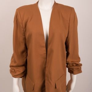Zara Blazer Gathered Sleeves Camel XL